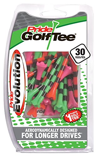 Pride Golf Tee Evolution Striped Golf Tees (Pack of 30), 2-3/4