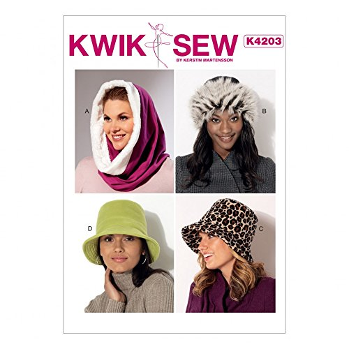 Kwik Sew Ladies Sewing Pattern 4203 Hood, Beanie & Bucket (Beanie Hat Patterns)