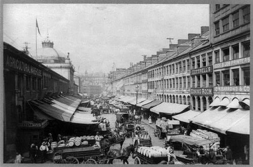 Photo: Market Street,Court Street,Boston,Massachusetts,MA,Clinton Johnson,c1895 - Boston Market Ma Street
