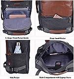 WITZMAN Men Travel Backpack Canvas Rucksack Vintage