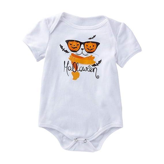 aec0c8e32435f6 VICGREY ❤ Neonato Bambino Ragazze Ragazzi Stampa Rompers Abiti Un Pezzo di  Halloween Cartone Animato Zucca
