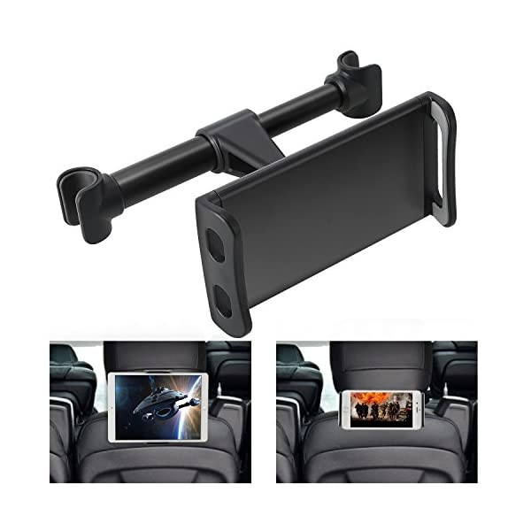 360° Rotation Car Headrest Mount, Phone Tablet Car Headrest Grip Mount Stand Cradle Bracket Holder For IPad/Samsung Galaxy Tabs/Amazon Kindle Fire 4~11 Inch Smartphones And Tablets