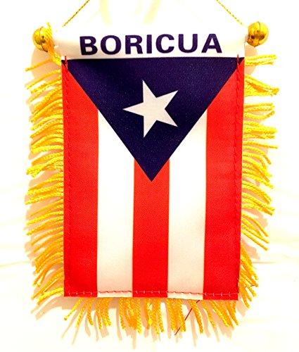- Puerto Rico Boricua Flag Small Puerto Rican Mini Banner Flag (Boricua)