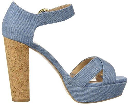 tacón Light Blue Denim Platform claro Mujer azul para Sandal Qupid con Sandalia SaCwqZ