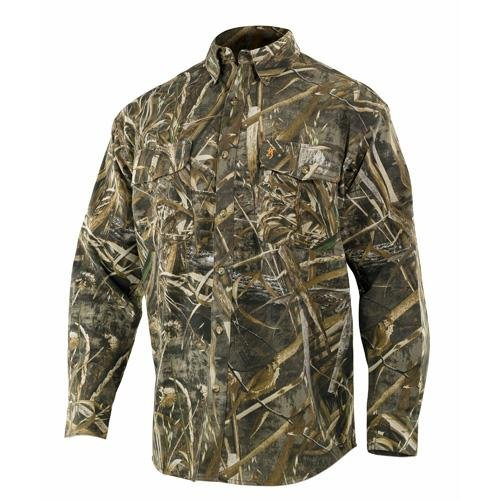 Browning 3011357604 Wasatch Long Sleeve Shirt, Realtree Max-5, X-Large