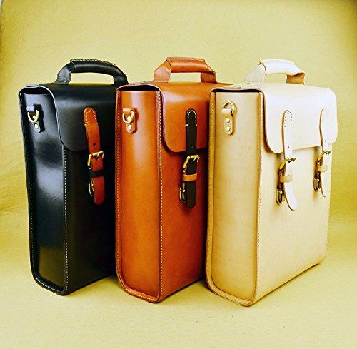Phonyeer Handmade Vintage Italian Top Thick Leather Handbags Men Backpack Motorcycle bag