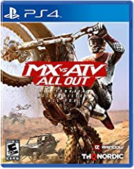 All Terrain, All Vehicles, All You! MX vs ATV All Out is the complete off-road racing and lifestyle experience! Choose between bikes, ATVs, UTVs, refine your rider style at your private compound and blast across massive open worlds to compete...