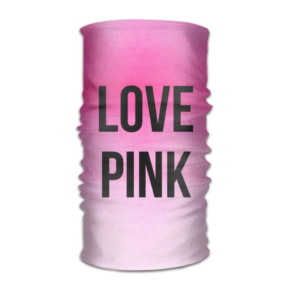 Love Pink 16-in-1 Magic Scarf,Face Mask,fishing Mask,Thin Ski Mask,Neck Warmer Balaclava Bandana For Raves,Dust,Riding Bike,Motorcycle,Outdoor Activities