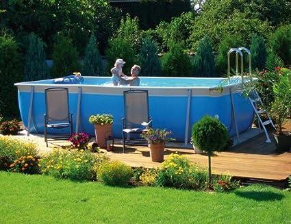 Emotion - Juego de piscina (520 x 265 x 125 cm, con escalera de acero inoxidable): Amazon.es: Jardín