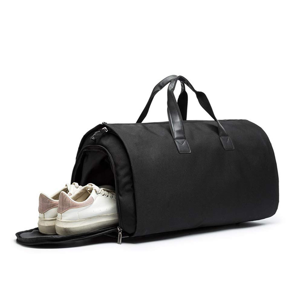 FENICAL Travel Duffel Bag Sports Gym Bag Travel Bag with Shoes Compartment Dark Grey