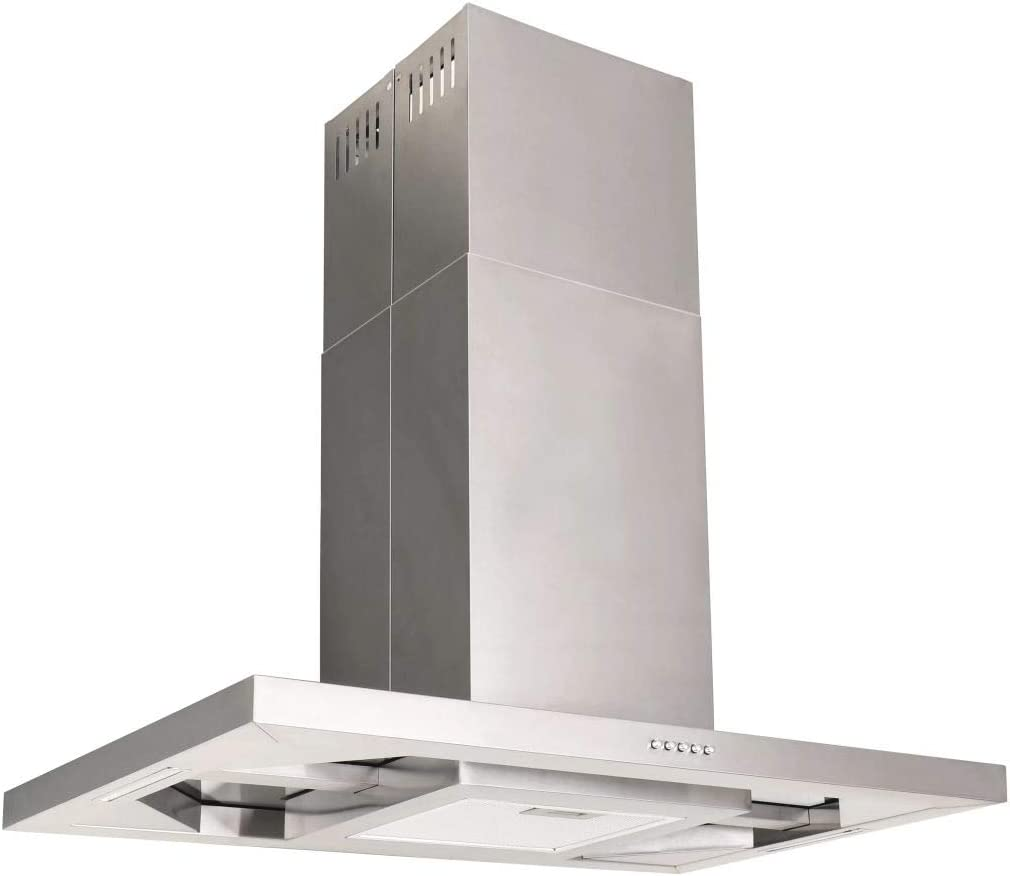 Media Wave Store campana extractora aspirante A Isla 90 cm Acero inoxidable 756 M3/h LED: Amazon.es: Hogar