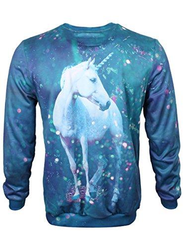 Mr. Gugu & Miss Go Men's Unicorn Sweatshirt Blue