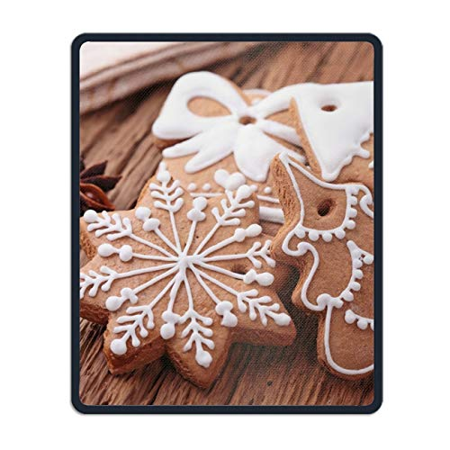 Personalized Rectangle Mouse Pad, Holiday Christmas Cookie Non-Slip Rubber Comfortable Computer Mouse Pad