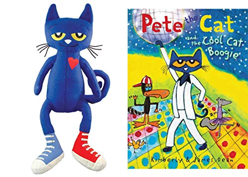 Pete The Cat Bundle with 14.5 Plush Doll and Pete The Cat and The Cool Cat Boogie Hardback Book (Pete)