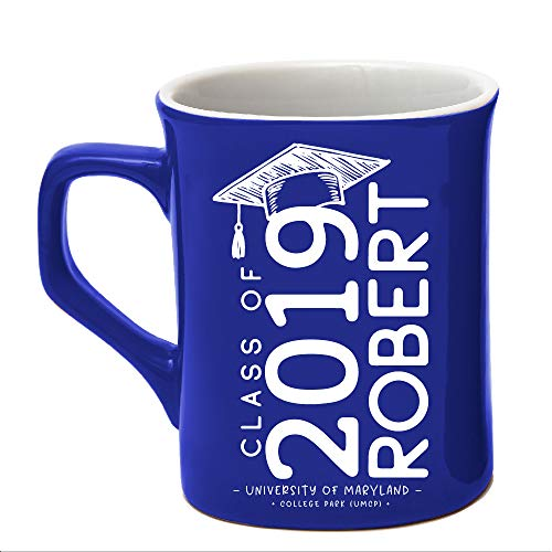 Class of 2018 Personalized Coffee Mug College/High School Graduation Gifts For Him Her Men Women | Ceramic 10oz Mug 7 Different Colors - Personalize with Name Date Year #C18