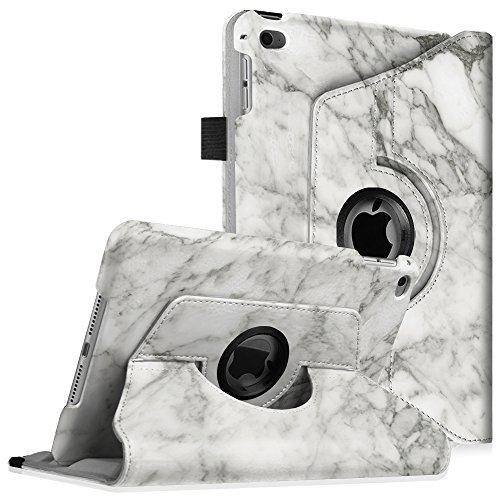 Fintie iPad mini 4 Case - 360 Degree Rotating Stand Case with Smart Cover Auto Sleep / Wake Feature for Apple iPad mini 4 (2015 Release), Marble