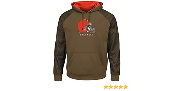 7e4f2027 VF Cleveland Browns Armor 2 Majestic Thermabase Pullover Hooded Sweatshirt