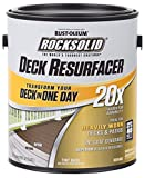 Rust-Oleum 319383 RockSolid 20X Deck Resurfacer, 1 Gallon, Gray