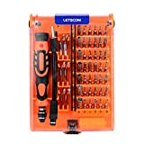 LETSCOM 52 in 1 Steel Precision Screwdriver Set, Professional Electronics DIY Repair Tool Kit for Quadcopters,Macbook,Xbox,PC,Laptop