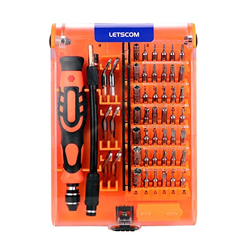 LETSCOM 52 in 1 Steel Precision Screwdriver Set, Professiona