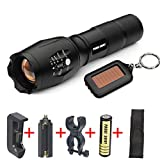 Leewa 5000LM XM-L LED Military Tactical Flashlight +1xBaterry Charger +1x18650 3200mAh Rechargeable Baterry +1xKeychain +1xNylon Pouch +1X360 Rotation Bike Mount