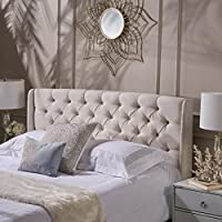 Lidia Tufted Fabric Headboard by Christopher Knight Home