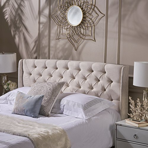 Lidia Tufted Fabric Headboard by Christopher Knight Home (Sale Upholstered Headboard)