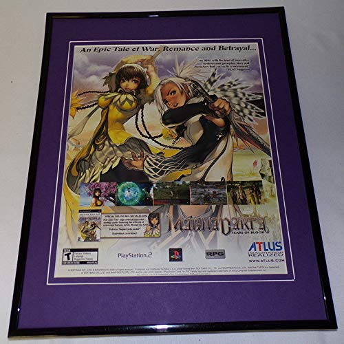 - Magna Carta Tears of Blood 2005 PS2 Framed 11x14 ORIGINAL Advertisement