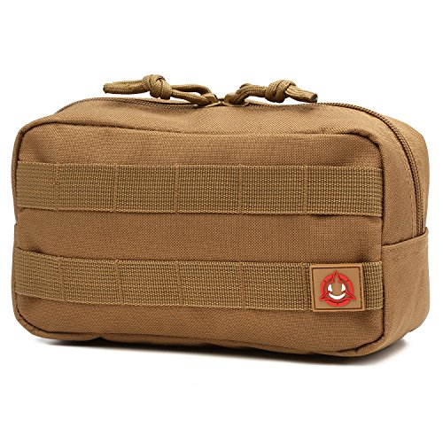 Orca Tactical MOLLE Horizontal Admin Pouch Utility EDC Tool Bag (Coyote Brown)
