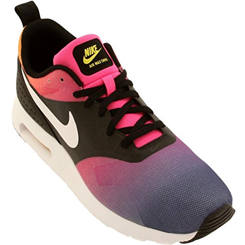 Nike Air Max Tavas SD Men's Fashion/Running Sneaker (10 D(M) US, BLACK/WHITE PINK POW-TR YELLOW)