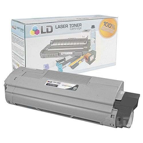LD © Compatible Okidata 44315304 Black Laser Toner Cartridge for use in OKI C610cdn, C610dn, C610dtn, & C610n