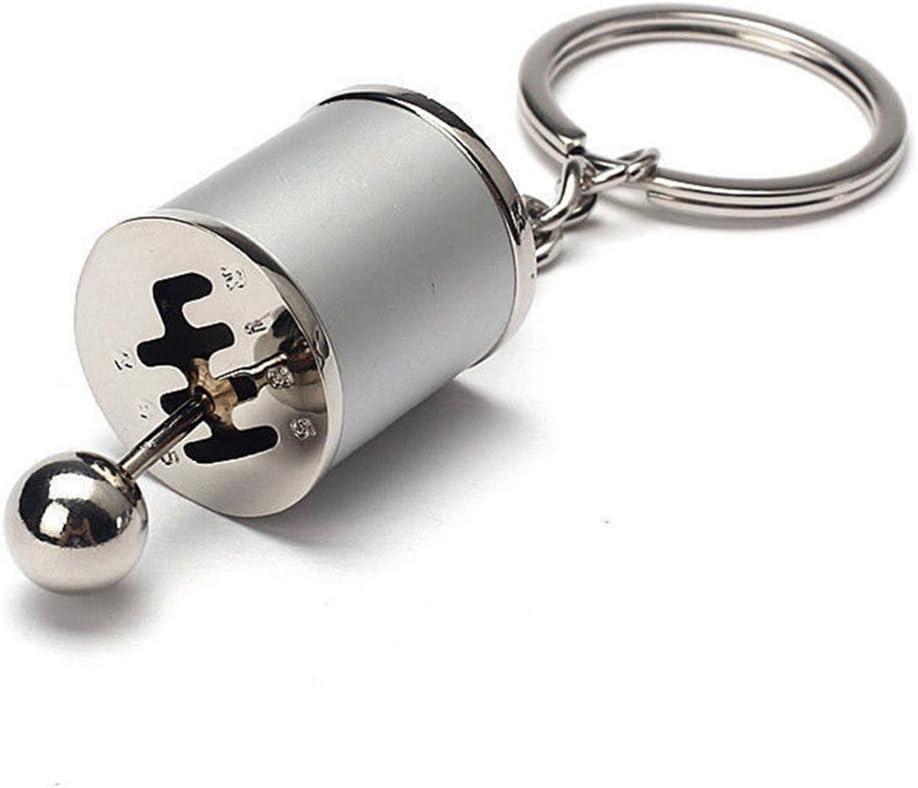 Accrie Creative Auto Part Model Gear Shifting Keychain Keyring ADHD Fidget Key Chain Blue