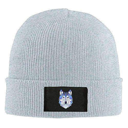 Wolf Animals Winter Warm Knit Hats Skull Caps Stretchy Cuff Beanie Hat Unisex