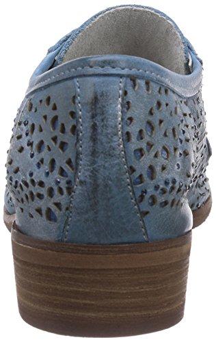 CAFèNOIR Derby - botas de caño bajo de piel mujer azul - Blau (228 BLU)