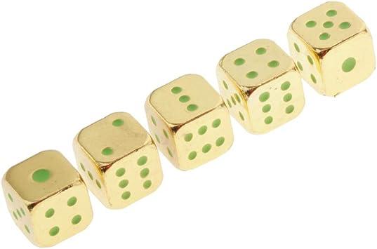 Hellery 5pcs Juego de Mesa Dados de 6 Caras Noctilucentes Juguete de Entretenimiento para Fiesta Navidad - Oro: Amazon.es: Juguetes y juegos