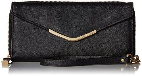 Calvin Klein Saffiano Wallet Black/Gold
