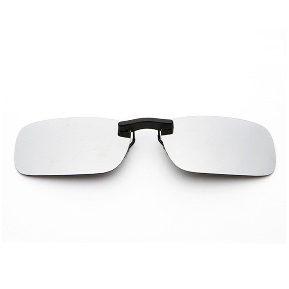 2aef4de668e Clip On Sunglasses Men s Titanium Flexible Polarized Lenses Glasses Laura  Fairy 55)