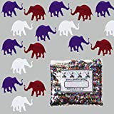 Confetti Elephant Red, White, Blue Mix - Half Pound Bag (8 oz) - (CCP8084-08A)