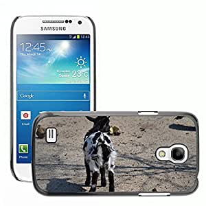 Hot Style Cell Phone PC Hard Case Cover // M00307784 Goat Black And White Fur Young Cute // Samsung Galaxy S4 Mini i9190