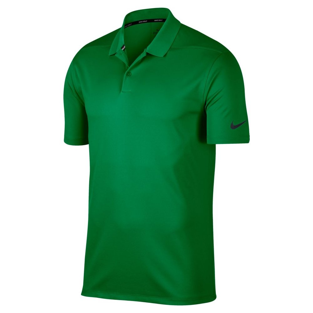 Nike Men's Dry Victory Solid Golf Polo (Classic Green/Black, Small)
