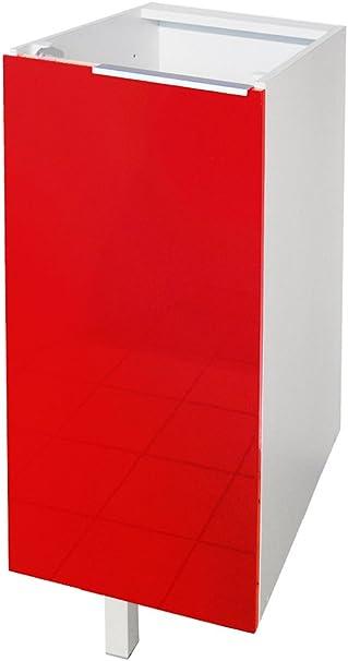 Berlioz Creations CP6BR Meuble Bas de Cuisine avec Porte Rouge Haute Brillance 60 x 52 x 83 cm