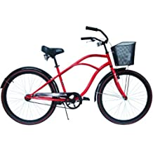 Airwalk 26-Inch Cruiser Bicycle High Roller Red