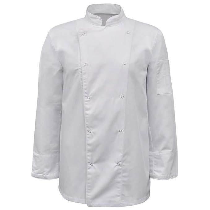 vidaXL Chaqueta Blanca de Cocinero Mangas largas Talla XL 2 Unidades Uniforme: Amazon.es: Ropa y accesorios