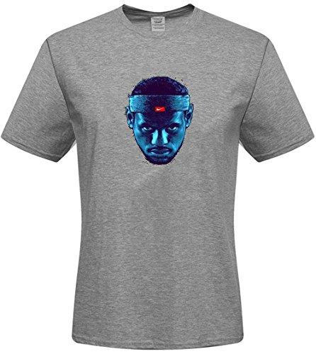 DIY Men's Tshirts,Custom Lebron james T-shirts,(Grey Small)