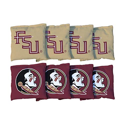 Victory Tailgate NCAA Collegiate Regulation Cornhole Game Bag Set (8 Bags Included, Corn-Filled) - Florida State FSU Seminoles (Corn - State Florida Duck