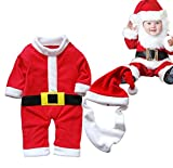 Chic Gal Unisex Baby's Santa Claus Romper Set Christamas Bodysuit Costume Outfit 80cm Red
