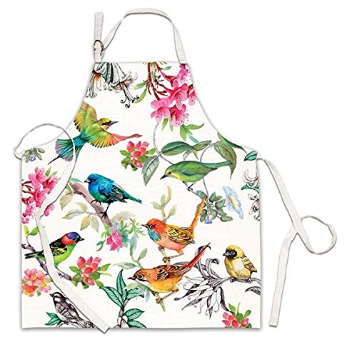 Bird Apron - Michel Design Works APR296 Adjustable Cotton Chef Apron, Bird Song