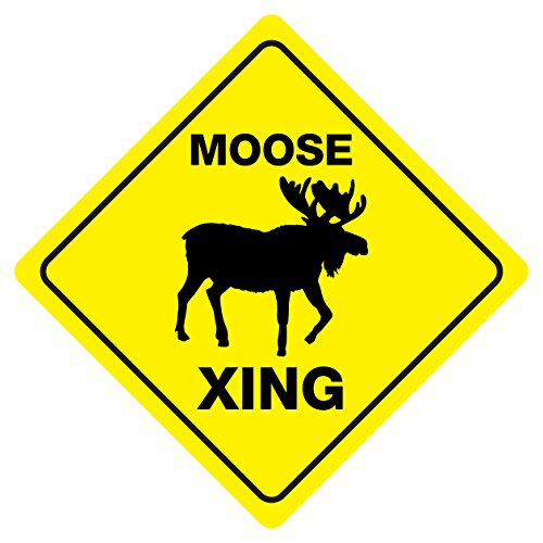 MOOSE CROSSING Funny Novelty Crossing Sign - Moose Crossing Sign