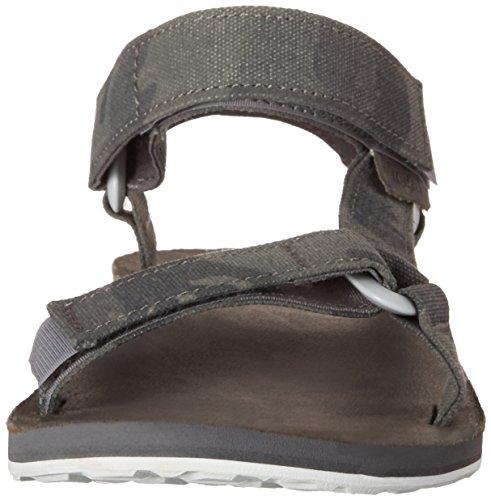 Teva Hombres original universal de la sandalia de la lona Gris
