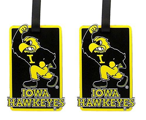 Iowa Hawkeyes - NCAA Soft Luggage Bag Tag - Set of 2 by NCAA